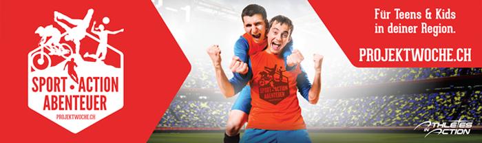Projektwoche.ch – Athletes in Action neuer Sponsor Verein Fairplay #FairBattles